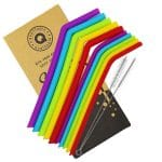 Brilliantly Colourful Reusable Silicone Drinking Straws